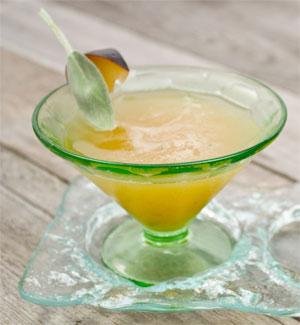 Plum Sage Bourbon Smash Cocktail