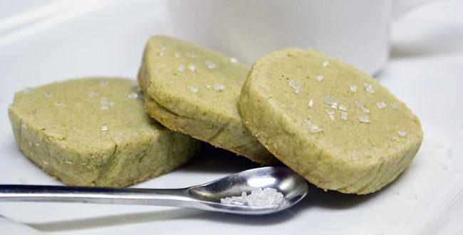 Cardamom Green Tea Butter Cookies