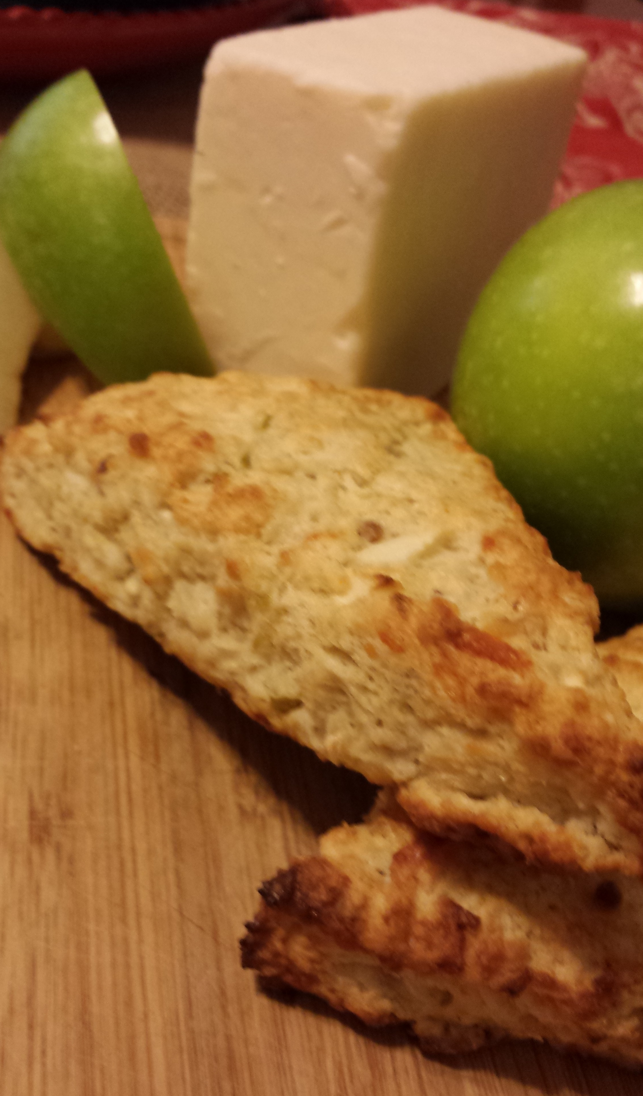 Apple Cheddar Scones with Walnuts and Sage