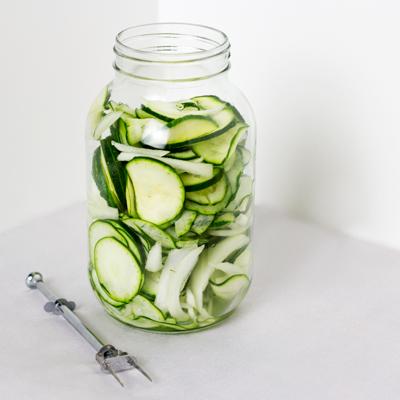 Zucchini Refrigerator Pickles